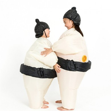 Sumo Inflatable Costume Carnival Party Fancy Animal Clothing para crianças
