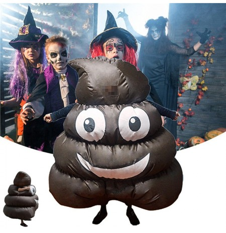 Halloween Party Home Decoration Cosplay Funny Emoji Inflatable Clothing For Kids Children Gift