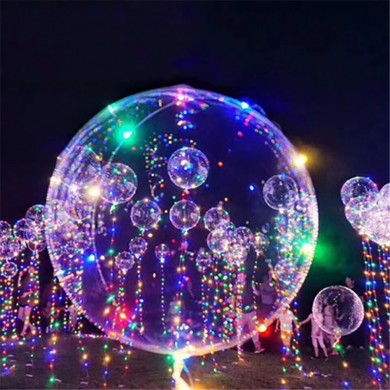 1Pcs Transparent Balloon Christmas Decoration Light Balloon 18 Inch With 3m Light Decoration