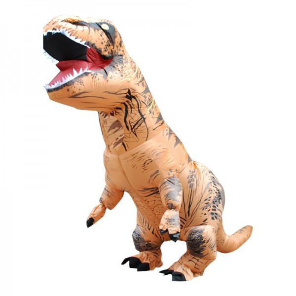 Natal Roupa inflável Dinossauro Modelos adultos Air Blowing Up Costume Funny Toys Children Gift