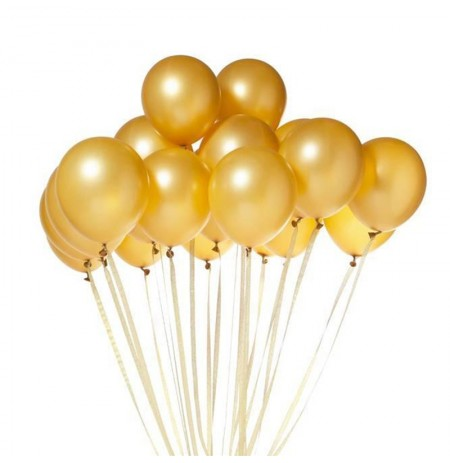 100Pcs Per Set 10 Inch Inflatable Balloon Pearl Latex Colorful Wedding Party Birthday Supply Gold