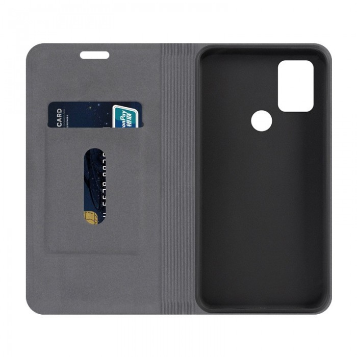 Bakeey Flip Stand Steel Layer Canvas Pattern PU Leather Full Protective Case For Umidigi Power 3