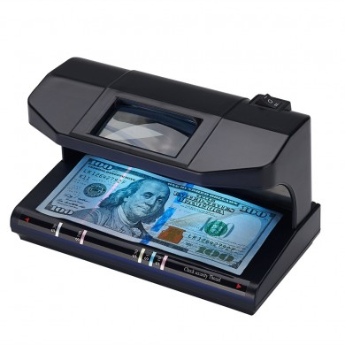 NanXing NX-1088 Money Detector 2X3W LED Cash Detector Magnetic Watermark Magnifier Counting
