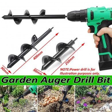 9x25/40cm Garden Drill Bit Earth Drill Hole Post Planting Auger Drill For Electric Drill