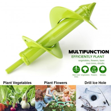 Electric Power Garden Auger Drill Bits Earth Planter Spiral Post Hole Digger Kit