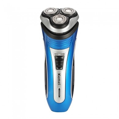 KM-2801 3D Electric Rechargeable Rotary Razor Shaver with Pop-up Trimmer