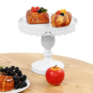 8-12'' Crystal Round Cake Stand White Display Dessert Holder Wedding Party Decorations