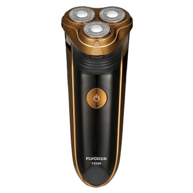 Flyco FS360 Professional Double Ring Flutuante Elétrica Shaver Com Pop-up Trimmer