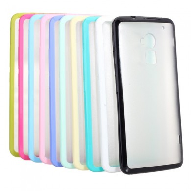 Dual Color Frosted TPU PC Transparent Back Cover Case For HTC T6