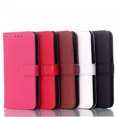 Litchi Grain Slide Flip Stand Wallet Leather Case For HTC M8 Mini