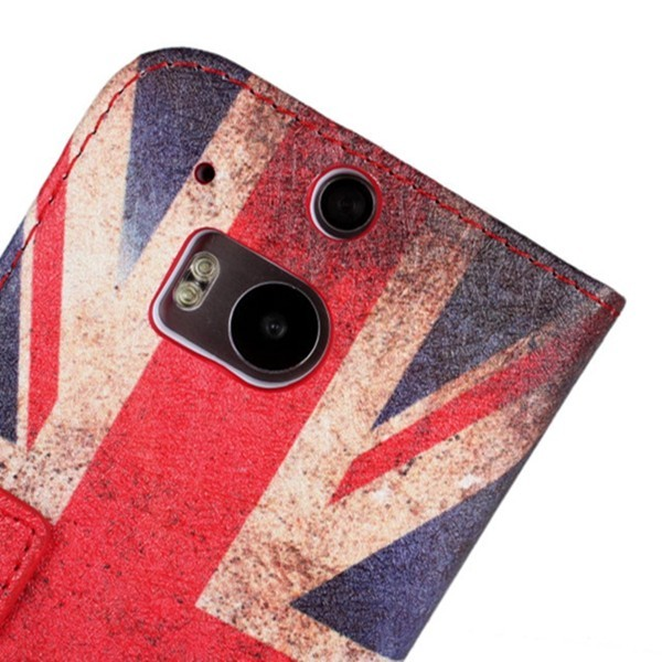 United Kingdom Flag Flip PU Leather Protective Case for HTC M8