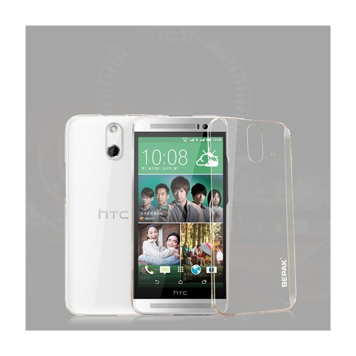 BEPAK Clear Transparent Protective Back Case For HTC ONE E8