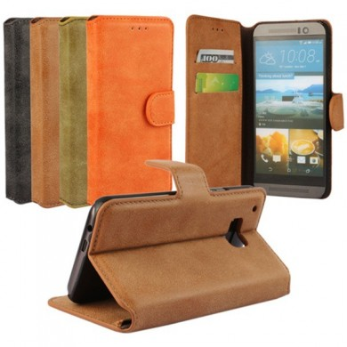 Magnetic Matte Flip Pu Leather Stand Case Cover For HTC One M9