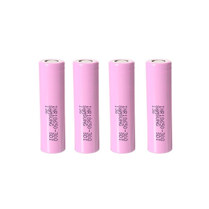 Samsung INR 18650-30Q 3000mAh 20A Batteries in Protective Plastic Case