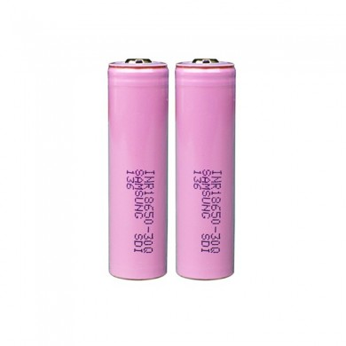 2PCS Samsung INR18650-30Q 3000mAh Unprotected Button Top 18650 Battery