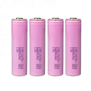 4PCS Samsung INR18650-30Q 3000mAh Unprotected Button Top 18650 Battery
