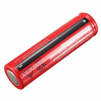 3pcs Elfeland 3.7V 3800mAh 18650 Rechargeable Li-ion Battery Red