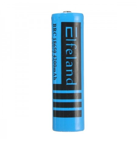 3PCS Elfeland 3.7v 4200mAh 18650 Rechargeable Li-ion Battery Blue