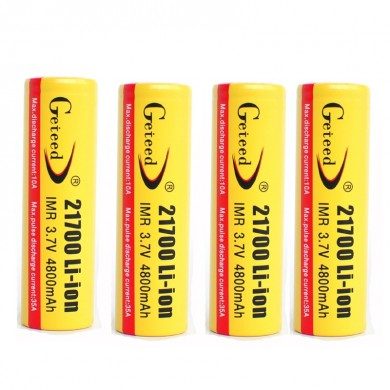 4PCS GETEED 3.7v 4800mAh 35A High Power 21700 20700 Rechargeable Li-ion Battery
