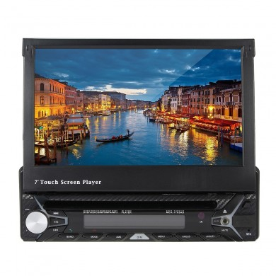 7 Inch 1 DIN Bluetooth Car MP5 MP3 DVD Player Stereo Audio USB SD AUX FM Radio IR