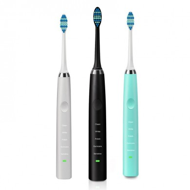 Loskii PA-189 Rechargeable Ultrasonic Vibration 5 Clean Modes Toothbrush Electric Toothbrush Dental