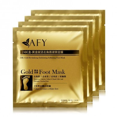 AFY Gold Foot Care Mask Membrane Nursing Set Corneous Dead Skin