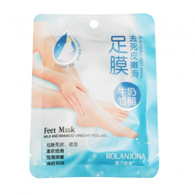 ROLANJONA Bamboo Vinegar Milk Feet Mask Deep Exfoliating Peeling Baby Foot Repairing