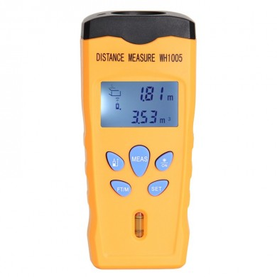 WH1005 Ultrasonic 18M Láser Medidor de distancia Mini Range Finder Puntero Volum Meter Backlight