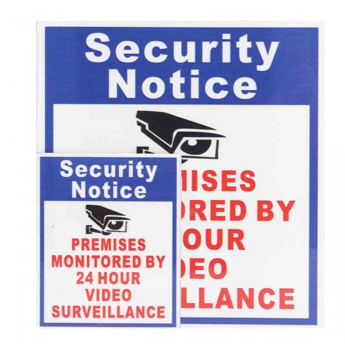 CCTV Security Accessories Warning Sign 10Pcs Camera Video Surveillance Sign Sticker Security Notice Premises Monitored by 24 Hour 8 x 5.5 x 5 Signs Sticker 2