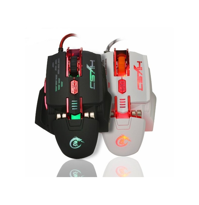 HXSJ X200 7 Buttons 4000 DPI LED Backlit Programmable USB Wired Optical Gaming Mouse (Color: Black) фото