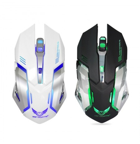 Zerodate 7 Colors 5 Buttons 2400DPI Wireless Backlight Ergonomics Optical Gaming Mouse