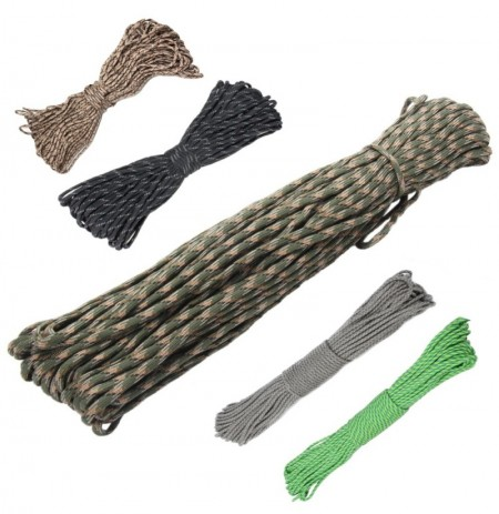 IPRee 100FT 550lb Mix-color Nylon Parachute Cord String Rope Outdoor Camping Hiking Tools
