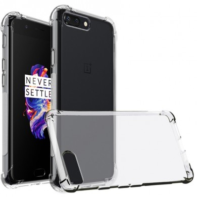 Transparent Anti-Drop Anti-Scratch Soft TPU Protective Back Case For OnePlus 5