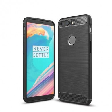 Carbon Fibre Drop-resistance Soft Silicone TPU Back Case For OnePlus 5T