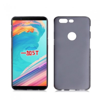 Ultra Thin Anti-Scratch Pudding TPU Soft Scrub Back Case For OnePlus 5T