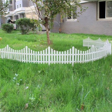 33cm Plastic White Plug In Fence Garden Decoration Fence