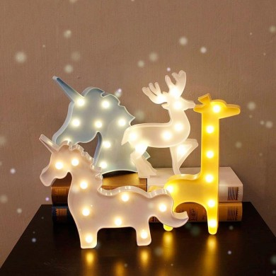Vvcare BC-NL04 Led Night Light per i bambini Unicorn Giraffe Camera da letto lampada Camera Party Decorazioni