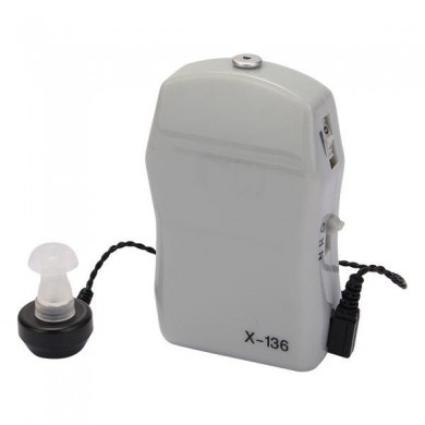 X-136 Pocket Wired Box Hearing Aid Adjustable Sound Amplifier Receiver Voise Enhancement