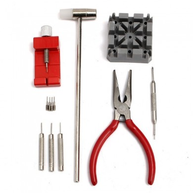 12PCs Watch Strap Band Holder Link Pin Remover Hammer Plier Pins Repair Tool Kit