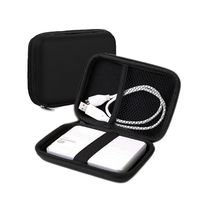 Hard case with zipper for portable hard drive 2.5 inch