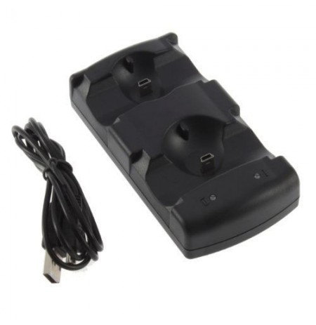 Usb doppio caricatore del bacino per Sony PS3 controller wireless ps3 mossa