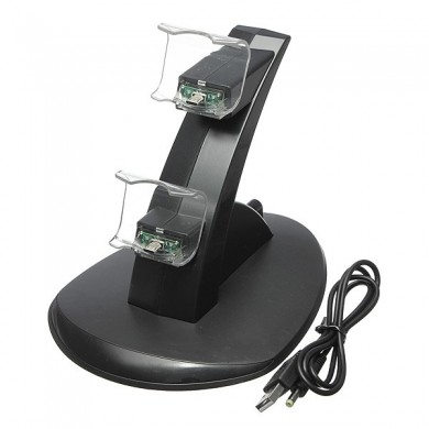 Play Station 4 Dual USB Charging Dock Station Stand para controlador PS4