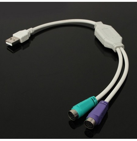 USB Male to PS2 Female Cable Adapter Converter Use For Keyboard Mouse