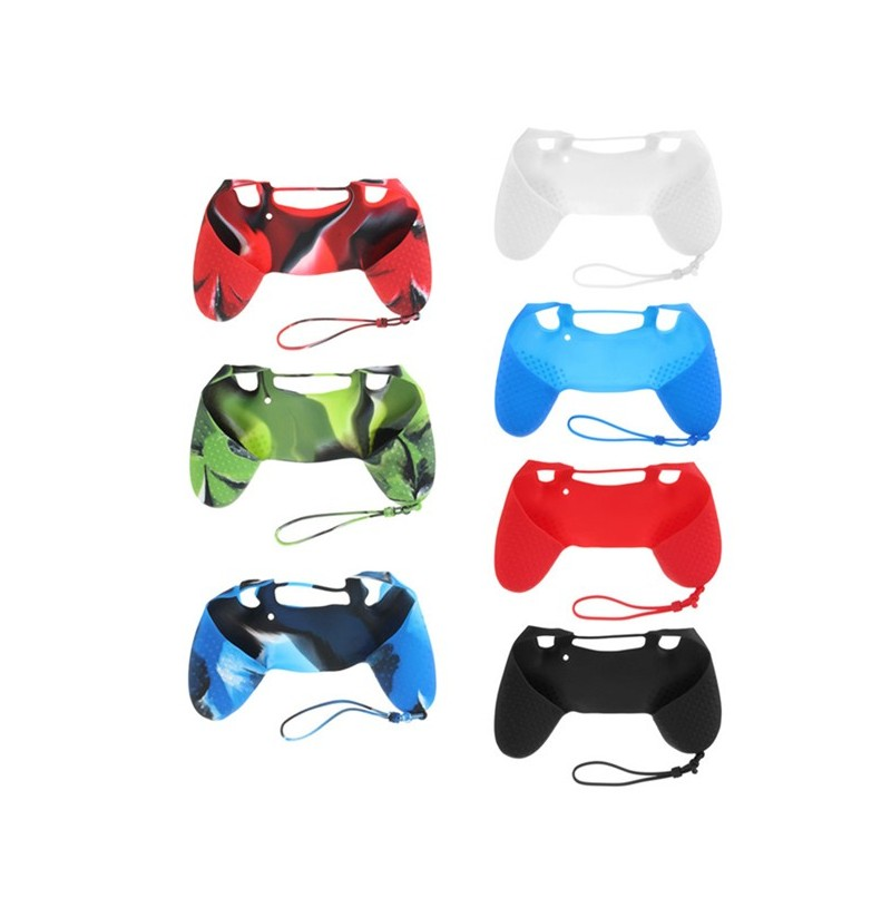 Silicone Case Skin Grip Rubber Cover For Sony Play Station 4 PS4 Controller (Color: Red Black) фото
