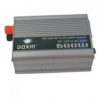 600W Car DC 12V to AC 220V Power Inverter -  Silver