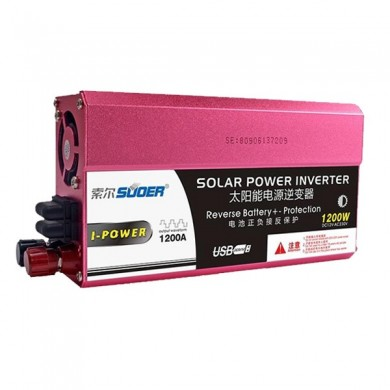 Suoer 1200W 12V To 240V Car Power Volt  Inverter Converter USB Port Corrected Wave