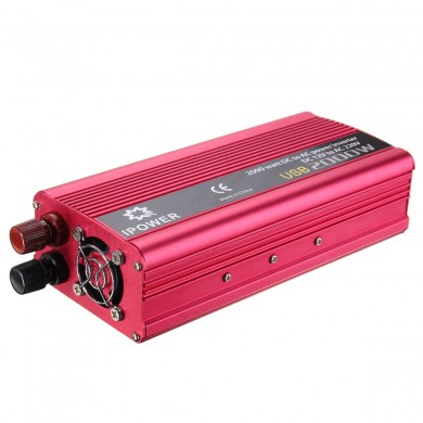 2000W Car Vehicle DC 12V To AC 220V Power Inverter Converter Electronic USB Port