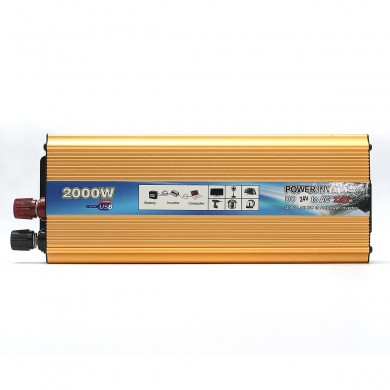 2000W Portable Car Modified Sine Wave Power Inverter Converter DC 24V To AC 220V