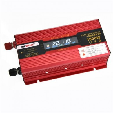 XUYUAN LCD 600W Power Inverter with Screen 12 to 110V Converter