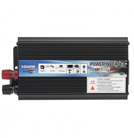 1000W DC 12V to AC 110V 220V Modified Sine Wave Car Power Inverter Converter USB